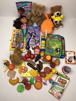 Toy Care Package Assorted Lot of Mixed Baby/Toddler Toys, Books, Games