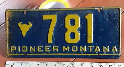 MONTANA - 1st issue Pioneer / ANTIQUE CAR license plate, low number original