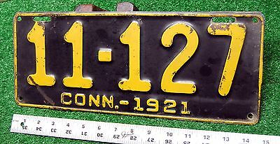 CONNECTICUT - 1921 passenger license plate - very nice original condition