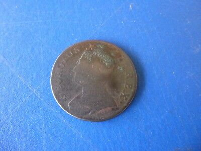 Antique Revolutionary War/Colonial Era George II Ha'penny, Dated 1743