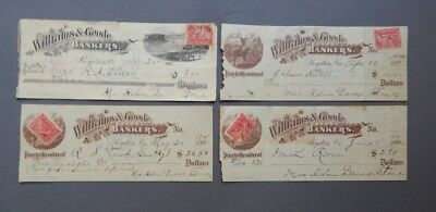 1901 Williams & Goode Bankers Canceled Bank Checks - Boydton Virginia VA