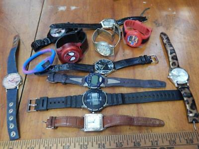 Group Lot of 12 Modern Watches, Mixed Bag, Fashion, Design, Character!