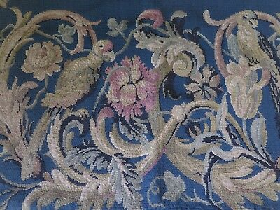 French 18/19  ANTIQUE Victorian TAPISSERIE Tapestry CURTAIN  Vorhang Shabby No1