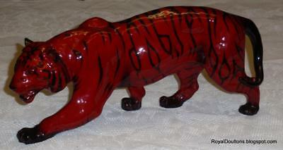 "HUGE 13"" Royal Doulton Flambe ""STALKING TIGER"" Figurine HN1082 ***ULTRA RARE***"