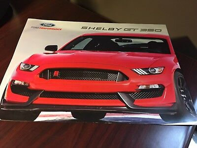 2015 Ford Mustang SHELBY GT 350 auto brochure 3 page dealership information