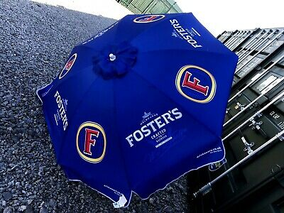 Fosters Larger  Hotel Pub Beer Garden Table  Umbrella Parasol  Teflon Brand New