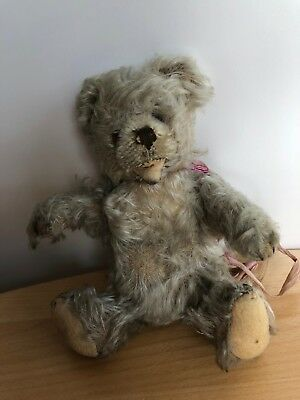 Alter STEIFF Zotty Teddy Bär, Mohair, 17 cm, 1976-1982