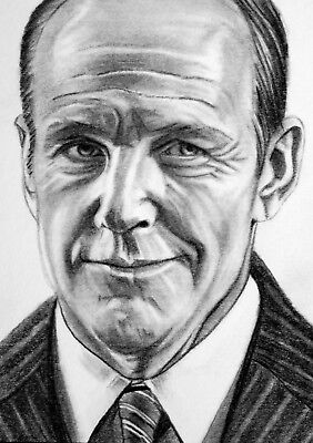 ORIGINAL ACEO sketch card MARVEL AGENTS OF SHIELD Clark Gregg PHIL COULSON