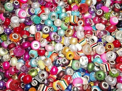JOB LOT 400 IMPERFECT Mixed ACRYLIC European Spacer BEADS