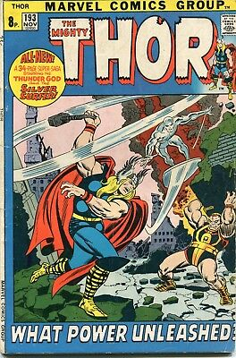 The Mighty Thor # 193 - 52 Pg Giant - John & Sal Buscema Art - Very Scarce In Uk