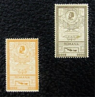 nystamps Romania Stamp # 169,170 Mint OG H $37