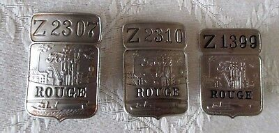 3- Vintage Ford Motor Co Rouge Factory Employee Badges-Pin Backs