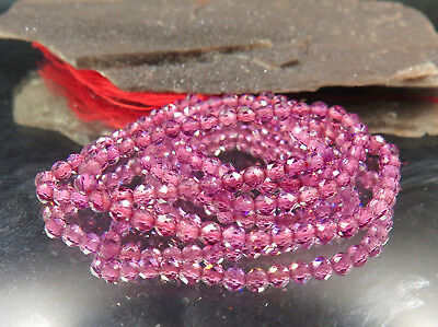 Rare Aaaaa Beautiful Sparkling Hot Purple Rhodolite Garnet Faceted Beads 12.9""