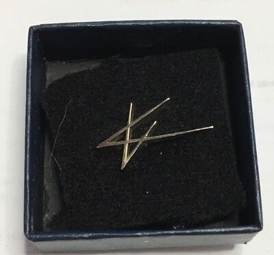 Vintage Lockheed Martin Logo Tie Hat Lapel Pin with Box