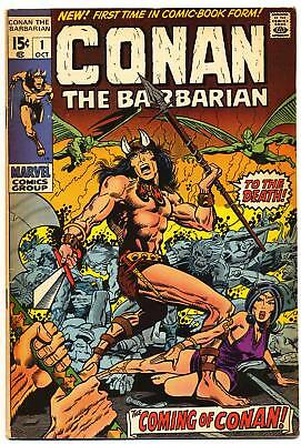 CONAN THE BARBARIAN #1 F, 1st app. in comics, Barry Smith, Marvel Comics 1970