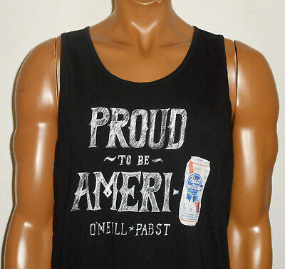 PABST BLUE RIBBON PBR Beer O'NEILL Tank Top T-Shirt PROUD AmeriCAN Surf NEW : XL