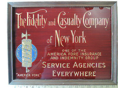 Fidelity and Casualty Company of New York Insurance Company Gold Leaf Sign