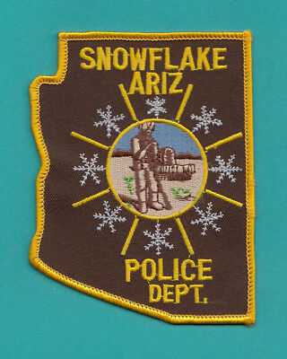 H32 * Older Snowflake Arizona Police Highway State Patch State Shape