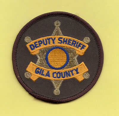 H33 * Rare Old Gila County Sheriff Arizona State Police Gold Patch