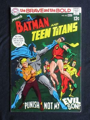 Brave and The Bold #83 DC 1969 - HIGH GRADE - Batman & The Teen Titans - Flash!!