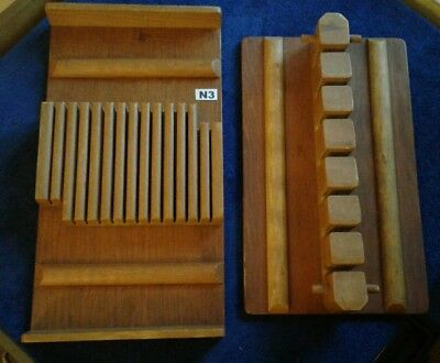 Vintage 1930's Cutlery Trays / Knife Storage Racks X2 Wooden By Staines
