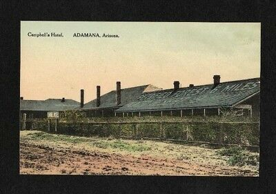 1920 Campbell's Hotel Petrified Forest Adamana Az Hand Colored Postcard