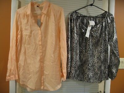 Women's Blouse Lot of 2 H&M Divided 12 Quintessential M NWT