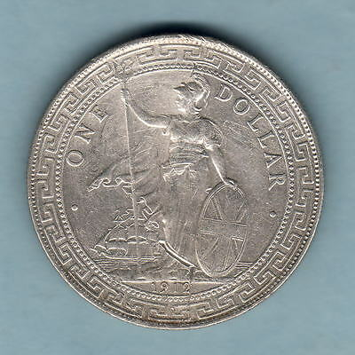 Great Britain.  1912-B Trade Dollar..  gVF
