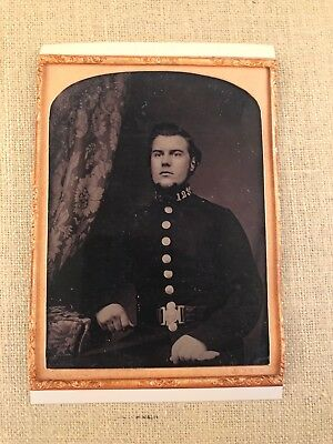 Glasgow, Scotland 1850's Large 1/4 Plate Ambrotype - Policeman, Fireman, Soldier