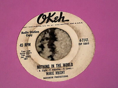 45 RPM Marie Knight OKEH DJ 7141 Nothing In the World SOUL   VG