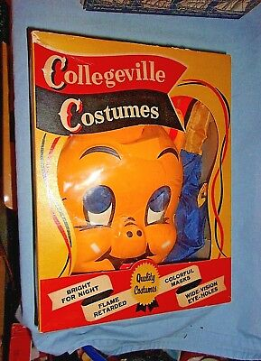 Vintage Collegeville Costumes Porky Pig Halloween Costume In Box  Large (12-14)