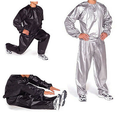 Heavy Duty Sweat Sauna Suit Gym Exercise Training Fitness Weight Loss Anti-R  GL