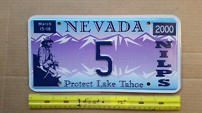 License Plate, Illinois, NILPS, (cf. NOTE), Protect Lake Tahoe, Prospector, # 5