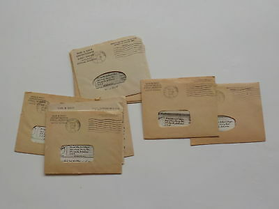 10 WWII V-Mails Letters 122nd Evacuation Hospital Fort Smith Arkansas WW2 Lot
