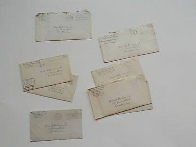 8 WWII Letters 51st Armored Infantry WW2 Bristol Connecticut World War Two VTG