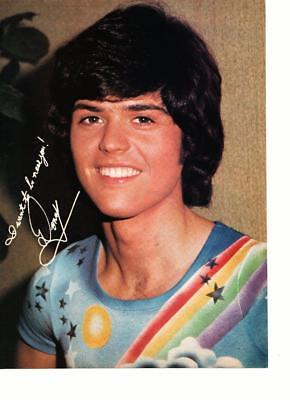 Donny Osmond magazine pinup clipping vintage 1970's rainbow shirt clouds Bop