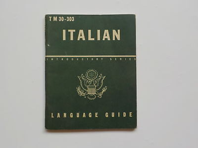 WWII Booklet 1943 Italian Introductory Series Language Guide WW2 Book Italy WW 2