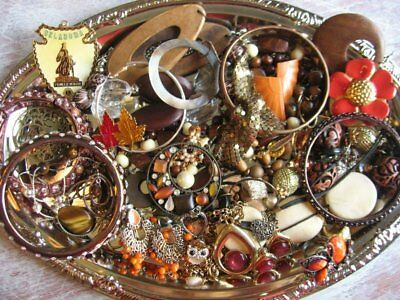 Vintage Now Estate Jewelry Junk Drawer Lot Unsearched Untested Wearable