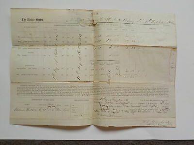 Civil War Document 1861 13th Indiana Officer Account Paper Antique 1 Paper VTG N