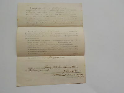 Civil War Document 1864 6th U.S. Cavalry Boatman Knoxville Maryland Antique 1 NR