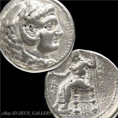 ALEXANDER the Great RARE Lifetime Coin 323 BC BEE Tetradrachm Big Ancient Silver