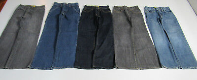 Lot of 5 Pair Boy's Jeans Size 8 Slim : Old Navy Boot Cut x4 & Circo : 1585
