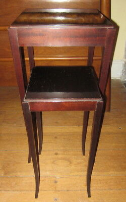 Two BARBARA BARRY by BAKER Mahogany Nesting/Accent Table