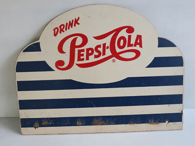 1950s PEPSI COLA Masonite 2 Sided Sign   soda pop