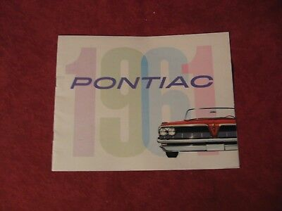 1961 Pontiac Full size Old Original Salesman Brochure Showroom Salesman Catalog