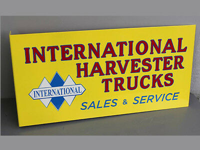INTERNATIONAL HARVESTER TRUCKS FLANGE SIGN  IH Dealer Sales Service Modern Retro