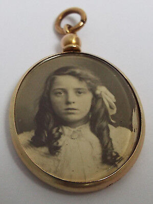 Superb Condition Original English Antique 1908 Solid 9Ct Rose Gold Photo Locket