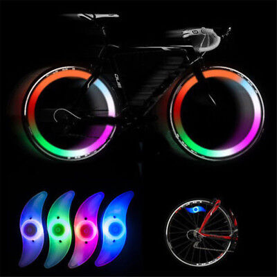 Mountain Bike Bicycle Cycling Spoke Wire Tire Tyre Wheel LED Bright Light Lamp