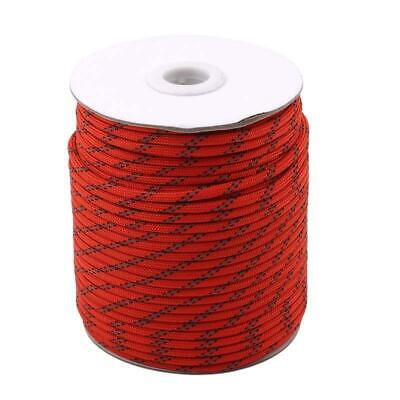 50M Reflective Guy Line Cord Outdoor Camping Canopy Tent Paracord Rope C