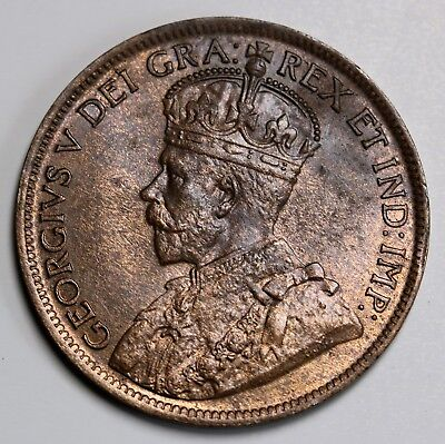 1919 Canada Cent George V Coin KM# 21